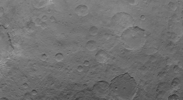 This image of Ceres is part of a sequence taken by NASA's Dawn spacecraft on May 22, 2015, from a distance of 3,200 miles (5,100 kilometers) with a resolution of 1,600 feet (480 meters) per pixel.