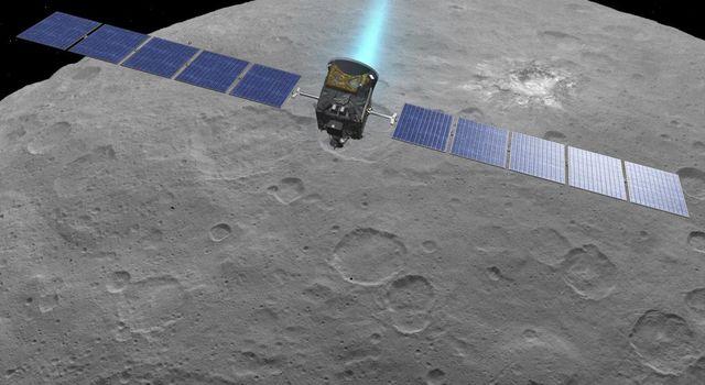 NASA artist's impression - Dawn at Ceres