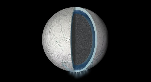 Global Ocean on Enceladus (Artist's Rendering)