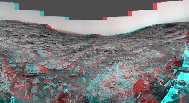 Panorama from Curiosity's Sol 1000 Location (Stereo)