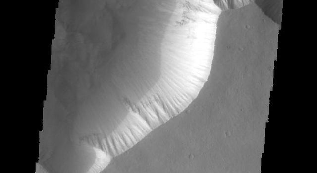 This image captured by NASA's 2001 Mars Odyssey spacecraft shows part of Candor Chasma.