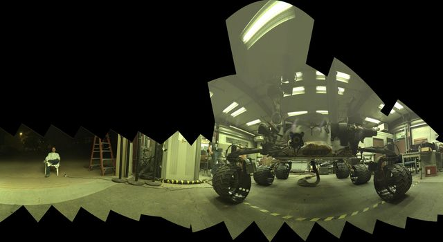 Test Rover at JPL During Preparation for Mars Rover's Low-Angle Selfie