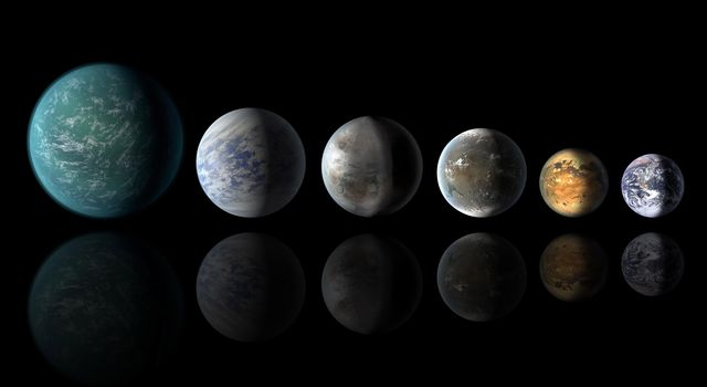 Pantheon of Planets Similar to Earth (Artist