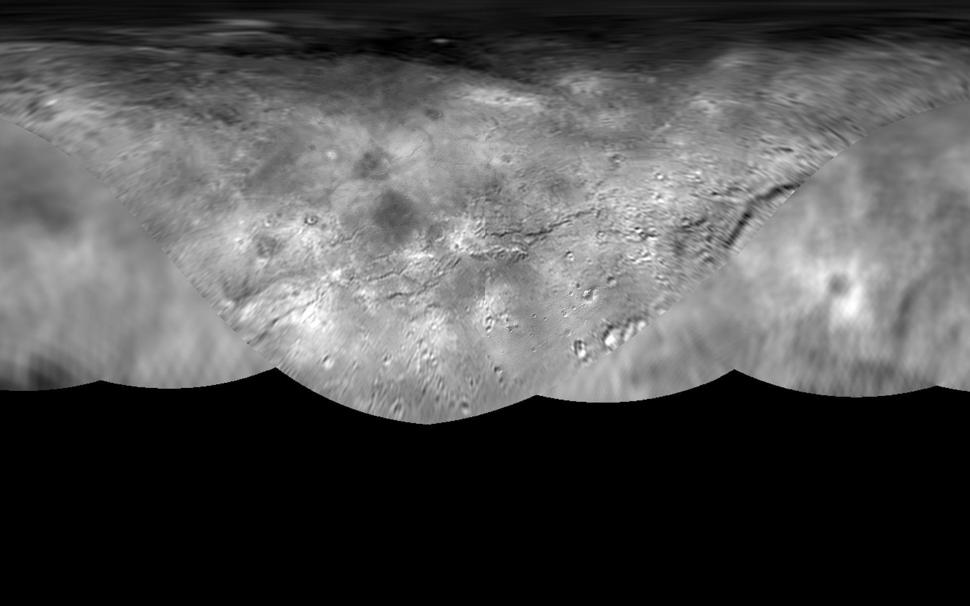 Charon Moon: Global Map Of Pluto's Moon Charon