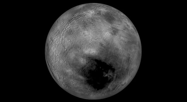 Images from NASA's New Horizons spacecraft were used to create a flyover video of Pluto's largest moon, Charon. The 'flight' starts with the informally named Mordor (dark) region near Charon's north pole.