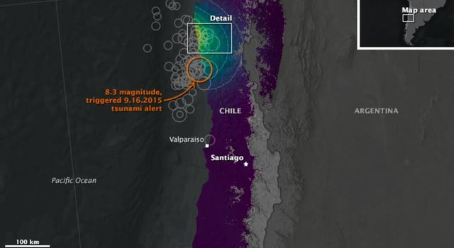 NASA Looks at Land Surface Changes Following Chilean Quake