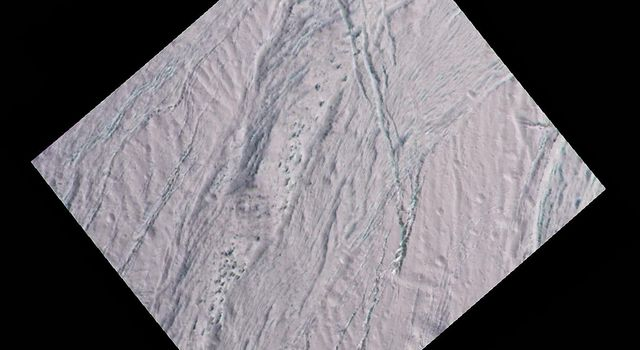 Enceladus Dalmatian Terrain Close-up