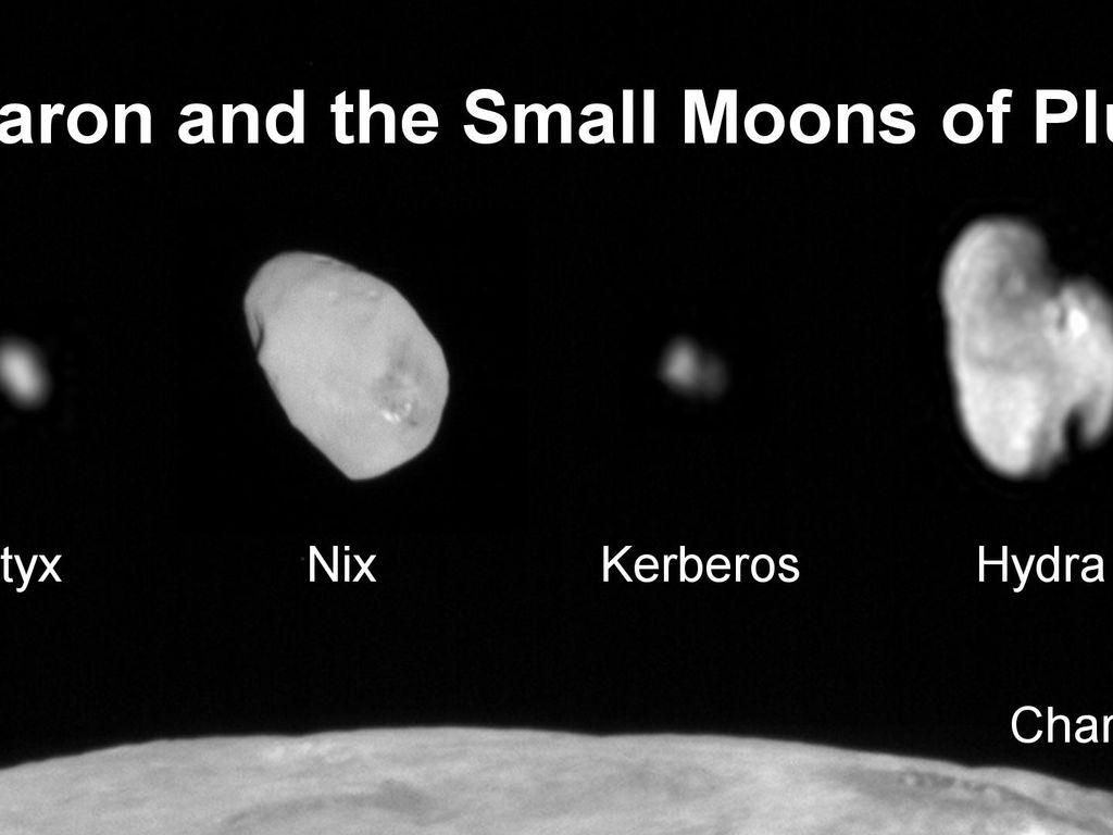 Kerberos Moon Of Plluto: Family Portrait Of Pluto's Moons