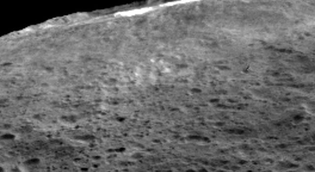 A group of scientists from NASA's Dawn mission suggests that when sunlight reaches Ceres' Occator Crater, a kind of thin haze of dust and evaporating water forms there. Occator measures about 60 miles (90 kilometers) wide.