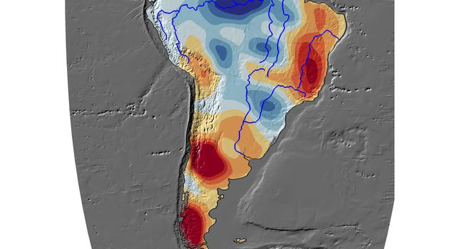 Cumulative Total South America Freshwater Losses as Seen by NASA