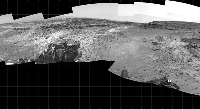 Full-Circle View Near 'Marias Pass' on Mars