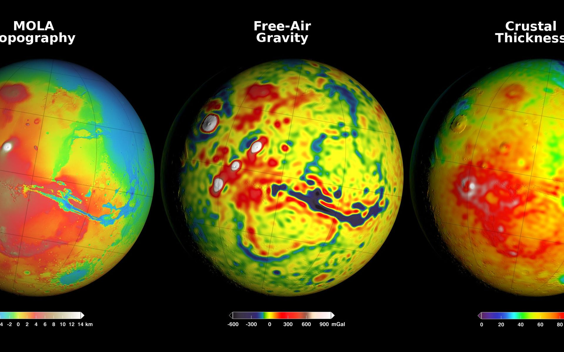Space images using gravity and topography to map mars crustal 1920 x 1200 gumiabroncs Choice Image