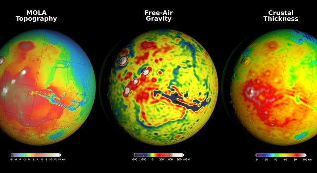Using Gravity and Topography to Map Mars