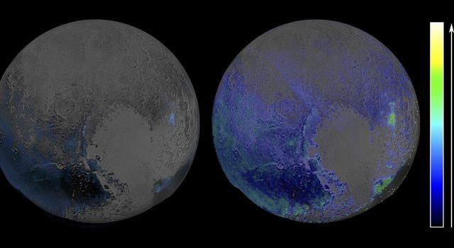 Pluto's Widespread Water Ice