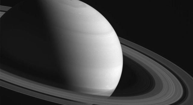 As Saturn's northern hemisphere summer approaches, NASA's Cassini spacecraft captured the shadows of the rings creep ever southward across the planet.