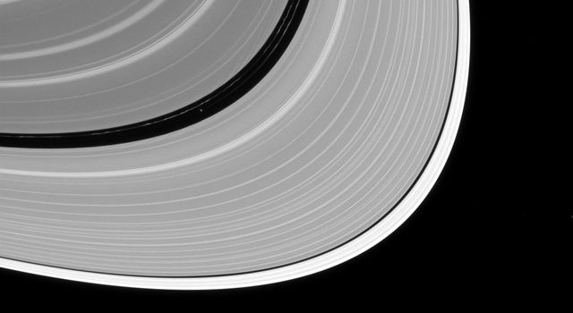 Pan may be small as satellites go, but like many of Saturn's ring moons, it has a has a very visible effect on the rings. This images was captured by NASA's Cassini spacecraft on July 2, 2016.