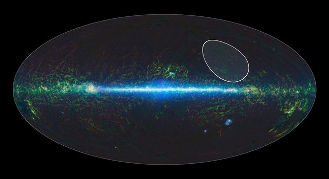 A sky map taken by NASA's Wide-field Infrared Survey Explorer, or WISE, shows the location of the TW Hydrae family, or association, of stars, which lies about 175 light-years from Earth and is centered in the Hydra constellation.