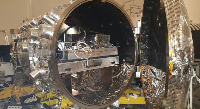 The vacuum chamber at NASA's Jet Propulsion Laboratory in Pasadena, California, used for testing WFIRST and other coronagraphs.