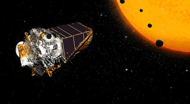A crop of more than 100 planets, discovered by NASA's Kepler Space Telescope, includes four in Earth's size-range orbiting a single dwarf star.
