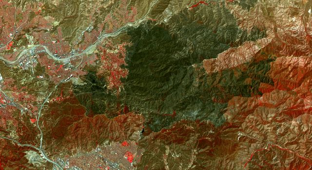 NASA Spacecraft Spots Aftermath of Destructive Wildfire in LA's Backyard