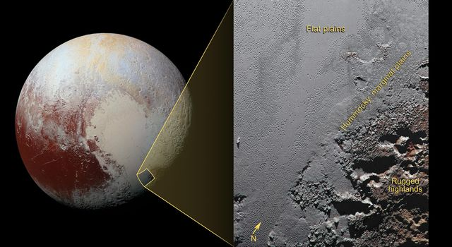 The Jagged Shores of Pluto