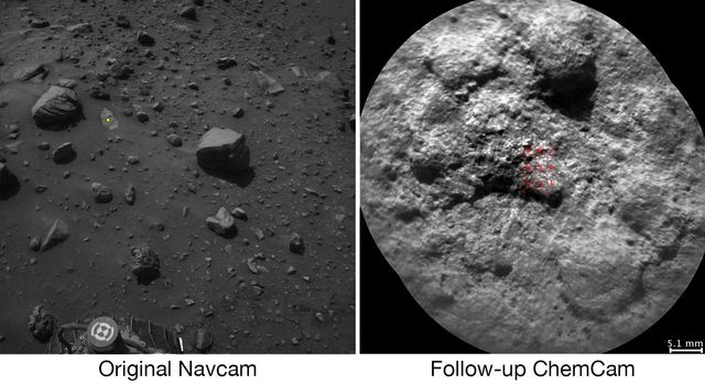 Autonomous Selection of a Rover's Laser Target on Mars