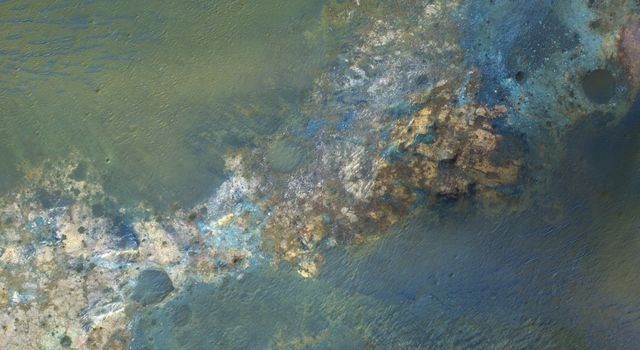 Colorful Bedrock in the Central Uplift of an Impact Crater