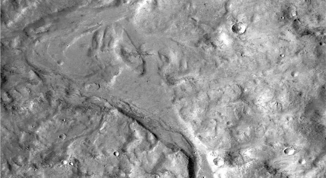 Outflow Stream from Relatively Recent Martian Lake