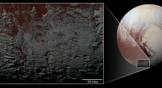 Pluto's Methane Snowcaps on the Edge of Darkness (context)