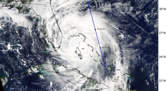 CloudSat Takes a 3D Slice of Hurricane Matthew