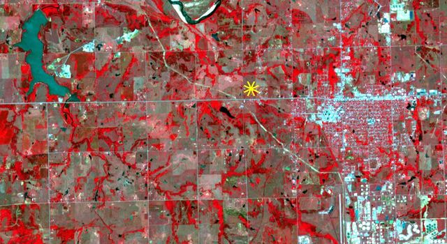 Oklahoma Area Struck By Magnitude 5.0 Earthquake Imaged by NASA Satellite