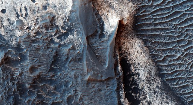 Deposits along the Northern Wall of Melas Chasma