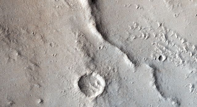 Wrinkle Ridges and Pit Craters