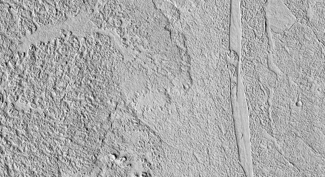 This image from NASA's Mars Reconnaissance Orbiter shows some beautiful lava flows in Amazonis Planitia. Lava isn't moving around on Mars today, but it certainly once did, and images like this one are evidence of that.