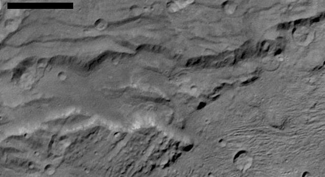 Landslides on Charon