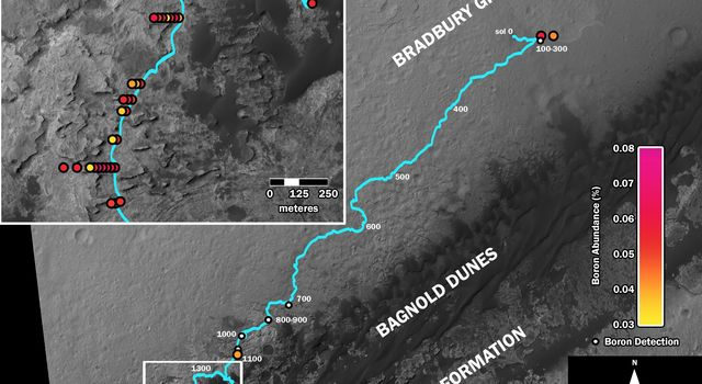 Where's Boron? Mars Rover Detects It