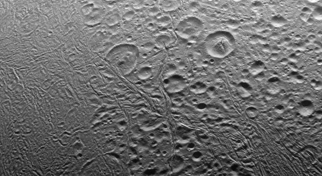 North Pole of Enceladus