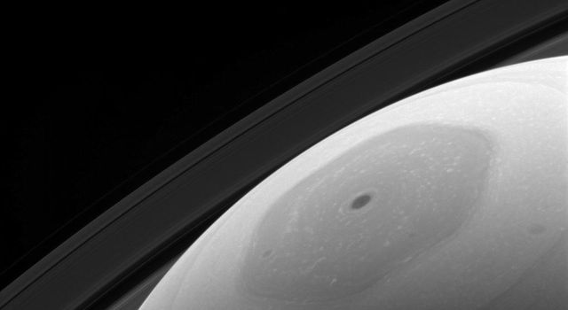 Saturn's hexagonal polar jet stream is the shining feature of almost every view of the north polar region of Saturn. The region, in shadow for the first part of NASA's Cassini mission, now enjoys full sunlight.