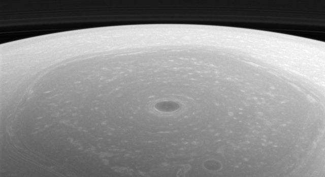 Reflected sunlight is the source of the illumination for visible wavelength images such as this image from NASA's Cassini spacecraft.