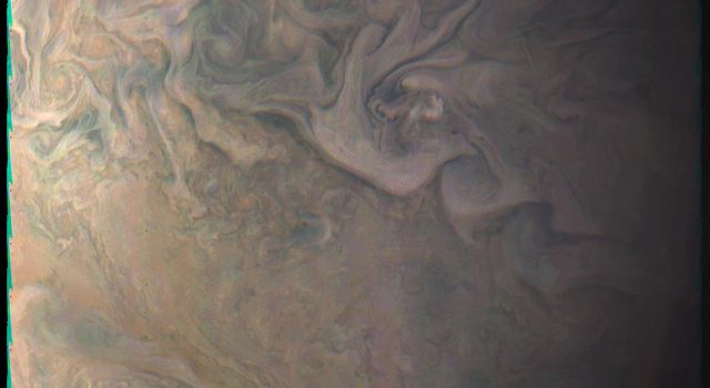 Juno's Close Look at a Little Red Spot