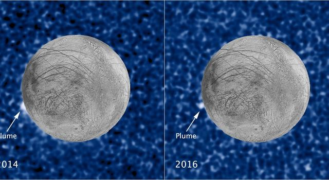 Hubble Sees Recurring Plume Erupting From Europa