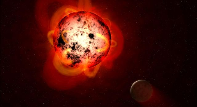 Flaring Red Dwarf Star (Illustration)