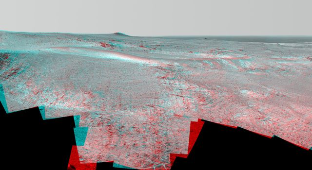 Mars Rover Opportunity's Panorama of 'Rocheport' (Stereo)