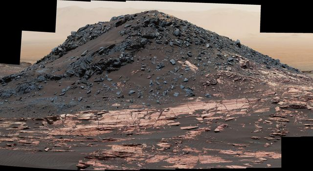 'Ireson Hill' on Mount Sharp, Mars