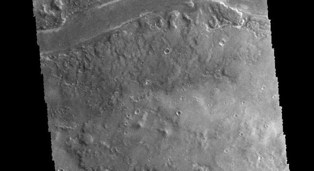 This image captured by NASA's 2001 Mars Odyssey spacecraft shows part of Granicus Valles.