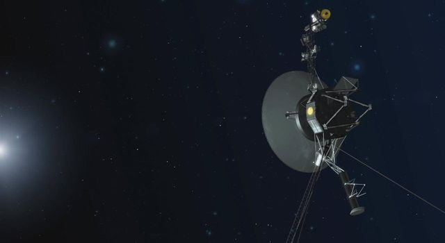Voyager in Deep Space (Artist Concept)