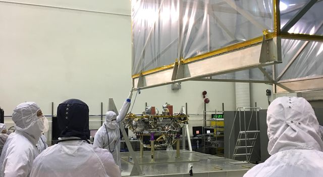 Spacecraft Coming out of Protective Storage