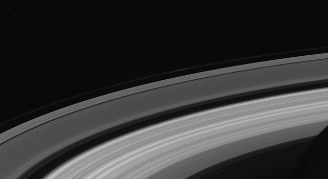 This image of Saturn's rings was taken by NASA's Cassini spacecraft on Sept. 13, 2017. It is among the last images Cassini sent back to Earth.