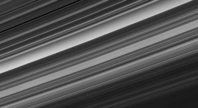 Cassini obtained this panoramic view of Saturn's rings on Sept. 9, 2017, just minutes after it passed through the ring plane. The Cassini spacecraft ended its mission on Sept. 15, 2017.