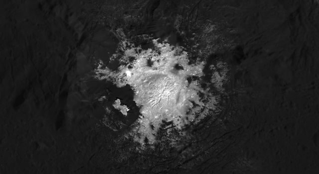 This mosaic of Cerealia Facula in Occator Crater on Ceres is based on images obtained by NASA's Dawn spacecraft. Intimate details about the relationships between bright and dark materials across the facula are revealed.